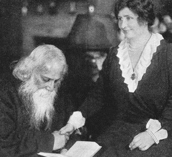 Rabindranath Tagore with Hellen Keller