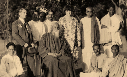 Rabindranath Tagore with Students