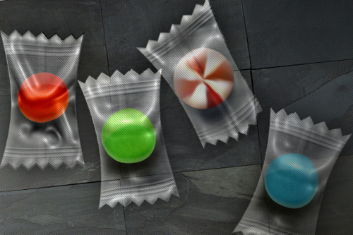 Candy in a Plastic Wrapper