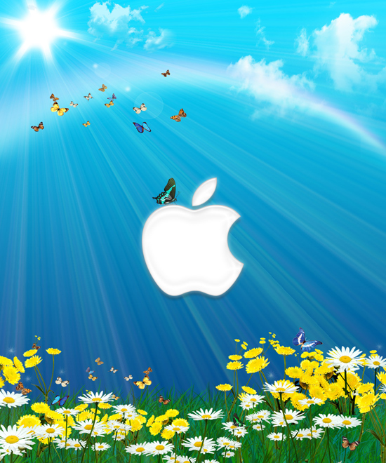 85 free apple ipad wallpapers featuring the apple logo