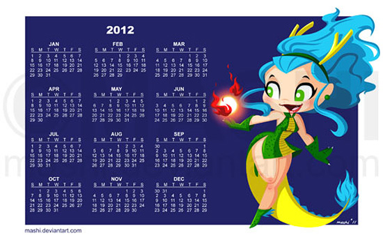 2012 Dragon Girl Wallpaper