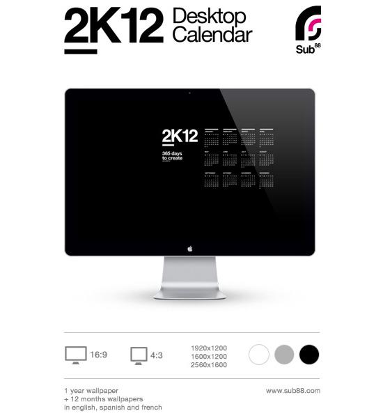 2K12 Desktop Calendar