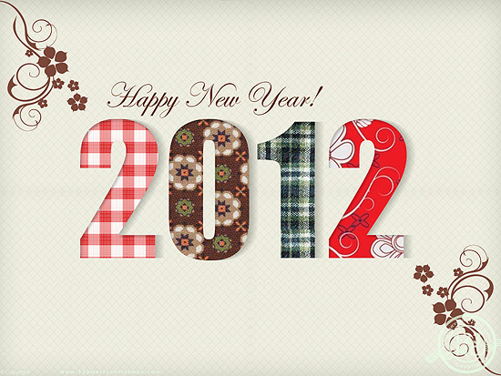 Happy New Year Laptop Background Wallpapers 2012