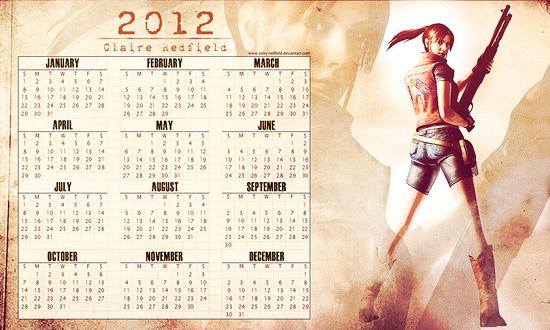 Claire R. Calendar 2012