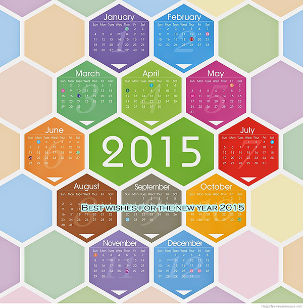 2015 Holiday Calendar Wallpaper