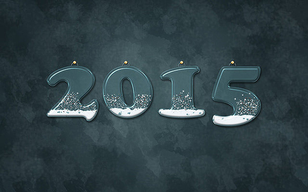 2015 Happy New Year Computer Background HD Wallpaper