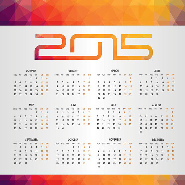 UK 2015 Design Calendar