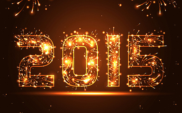 Happy New Year Fire Text Design HD Wallpaper